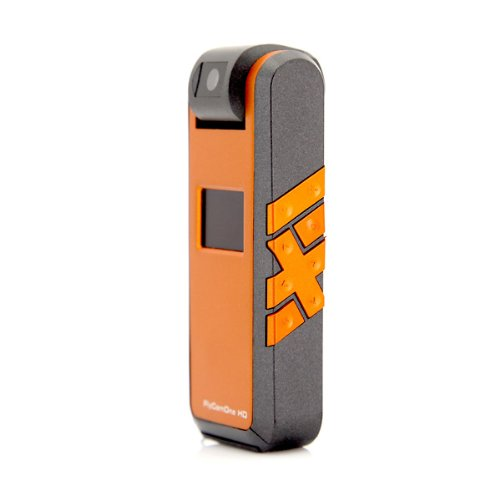 CamOneTec - FlyCamOne HD 720p - Mars | FPV HD -Kamera | Auslösen per Fernbedienung (anthrazit/orange) (FCHD51)