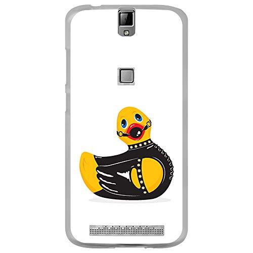 BJJ SHOP Transparent Hülle für [ Elephone P8000 ], Flexible Silikonhülle, Design: Gummiente mit Fell