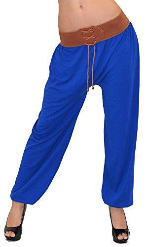 Pantalon Sarouel pour Femme Pantalon Pump Femme Pantalons Harem pour Dames Pantalon de Yoga S02 bleuroyal