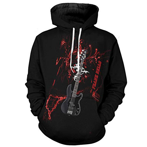 Neue 3D Fashion Men Hoodies Die Guitar Men Hoodies Hip Hop Style Men Hoodies as photos1 XL