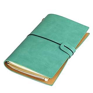 Anggo Notizbuch, Kunstleder-Einbad, altmodisch, nachfüllbar, gebunden style1--blue