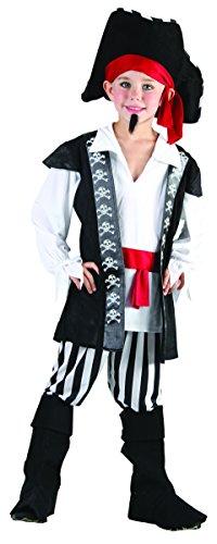 Lachen und Confetti–fibpir004–Kostüm für Kinder–Kostüm Pirat-hoher See–Jungen–Größe M (Hoher See Kostüm)