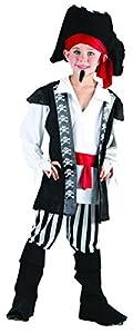Reír Y Confeti - Ficpir004 - Disfraces para Niños - traje de pirata de alta mar - Boy - Talla L