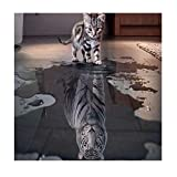 Master 5D Diamant-Gemälde für Zuhause, Wanddekoration, Kreuzstich, Strass-Stickerei-Kit, DIY Kunst Handwerk Handwerk Katze und Tiger 11.8x11.8inch Cat&Tiger