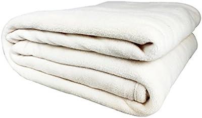 Auralum® Elegante Manta de Lana Suave y Cálida y Confortable 150 * 210cm Blanco L