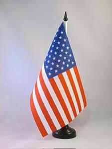 DRAPEAU DE TABLE ETATS-UNIS 21x14cm - PETIT DRAPEAUX DE BUREAU AMÉRICAIN - USA 14 x 21 cm - AZ FLAG
