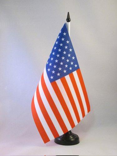 AZ FLAG TISCHFLAGGE USA VEREINIGTE Staaten 21x14cm - VEREINIGTEN Staaten VON Amerika TISCHFAHNE 14 x 21 cm - flaggen