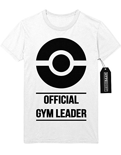 T-Shirt Pokemon Go Official Gym Leader Kanto 1996 Blue Version Pokeball Catch 'Em All Hype X Y Nintendo Blue Red Yellow Plus Hype Nerd Game C980114 Weiß