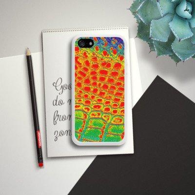Apple iPhone 4 Housse Étui Silicone Coque Protection Peau de serpent Serpent Serpent Housse en silicone blanc