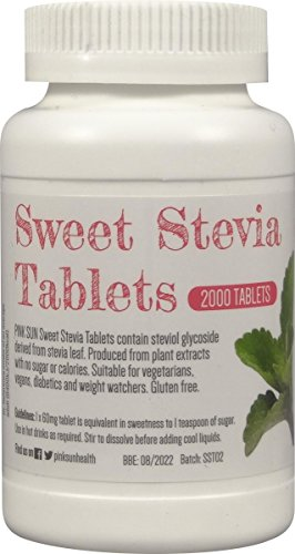 Stevia Tablets x 2000 Refill Tabs (Top up for 500 tablet dispenser) - Sweetener Sugar Alternative Replacement - Bulk Buy Test