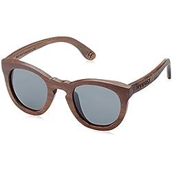 HÄRVIST, Roundwood - Gafas de sol de madera, unisex, color nogal / negro, talla Talla única