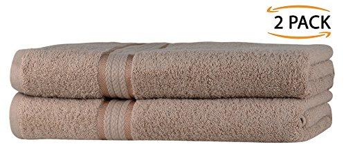 SweetNeedle - Toalla muy suave de 580g/m², 100% algodón hilado de lujo y ribete de rayón absorbente.