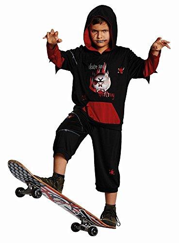Rubie's Kinder Kostüm Grusel Skater Karneval Fasching Halloween Gr.140