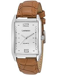 Laurels Townsman Analogue White Dial Wrist Watch- for Men