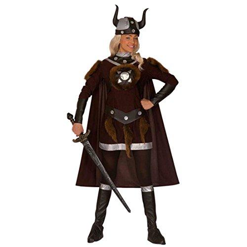NET TOYS Fasching Kostüm Wikingerin Barbarin Kriegerin Wikingerkostüm Damen Karneval Damenkostüm Gr L 42/44 (Barbaren Erwachsene Kostüme)