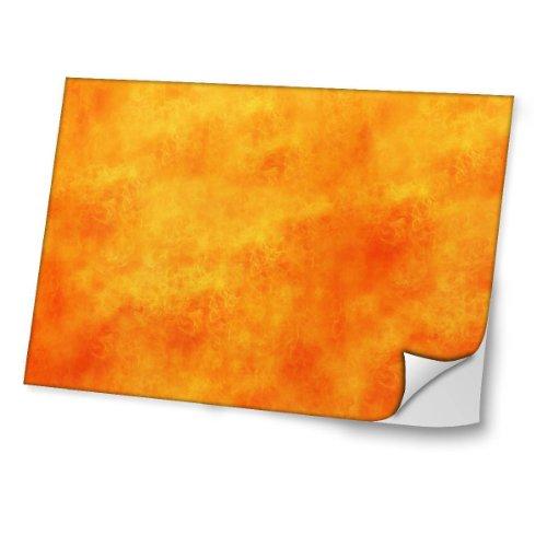 Feuer 10005, Lava, Skin-Aufkleber Folie Sticker Laptop Vinyl Designfolie Decal mit Ledernachbildung Laminat und Farbig Design für Laptop 10.2