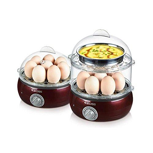 sbfwh Eierkocher für 8 Eier, elektronische Regelung, Edelstahldesign, 350 W , A