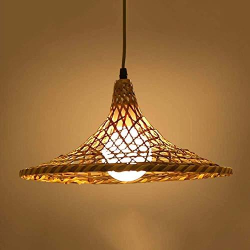 ZXDD Pendelleuchten Kronleuchter Deckenleuchten, Schlafzimmer Wohnzimmer Lounge Deckenventilator Retro Antik Blatt Holz mit LED Fan Licht, Kronleuchter Kristall,34 cm -
