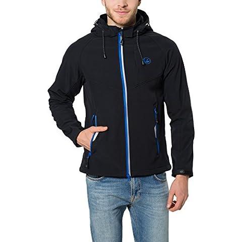 Ultrasport Miro - Chaqueta deportiva Softshell para hombre, con capucha extraíble, color negro, talla