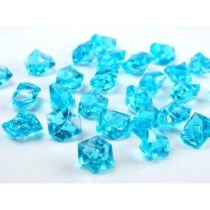 BUDILA® Dekosteine Dekoeis türkis Eis Optik 100 Stück Acryl Tischdekoration für Hochzeit