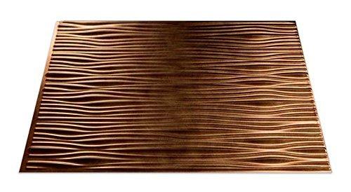 Fasade Easy Installation Waves Antique Bronze Backsplash Panel for Kitchen and Bathrooms (18 x 24 Panel) by Fasade (Fasade Panels Backsplash)