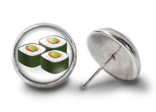 Sushi Ohrringe California Rolle Ohrringe Sushi Glas