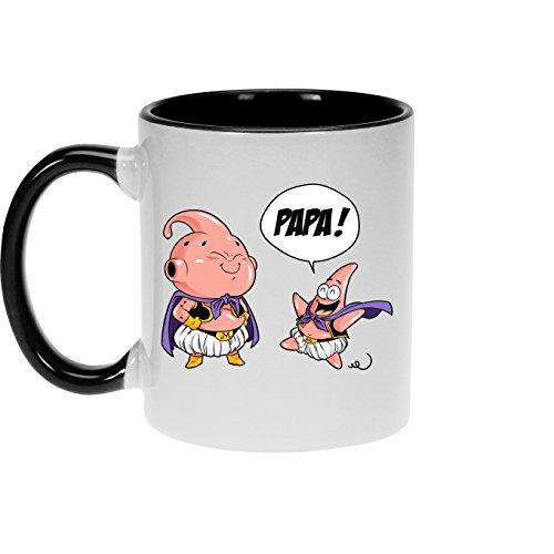 Okiwoki Mugs Dragon Ball Z - Bob l'éponge parodique Boubou Patrick l'étoile de Mer : Tel père tel Fils (Version SD) (Parodie Dragon Ball Z - Bob l'éponge)