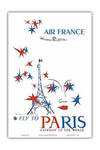 volez-a-paris-air-france-portail-du-monde-constellation-lockheed-connie-affiche-ancienne-vintage-com