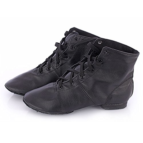 Oasap Women's Lace-up High Top Jazz Dance Shoes Black