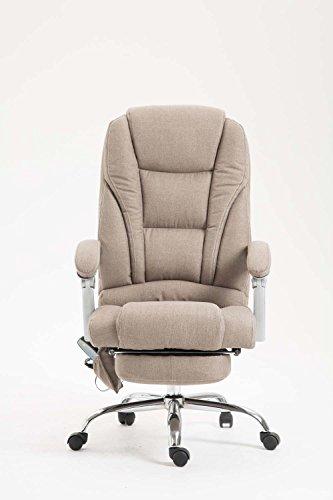 Poltrona Relax Ufficio.Clp Sedia Da Ufficio Massaggiante Pacific Poltrona Relax Con Poggiapiedi Estraibile Altezza Regolabile In Tessuto Ergonomica Girevole Con Ruote