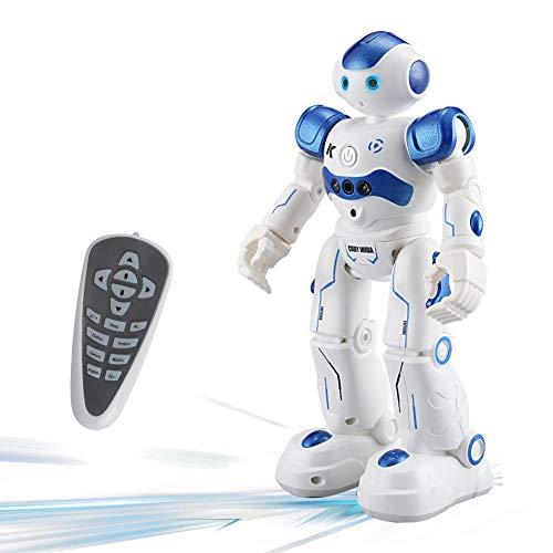 RC Roboter Spielzeug Ferngesteuerter, Roboter für Kinder mit Infrarot - Sender Fernbedienung ermöglicht,Geste Sensing Control,Singen Tanzen USB Lade für Kinder Geburtstagsgeschenk (Blau)