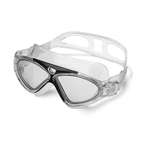 Mangetal Sanfte Schwimmbrille aus widerstandsfähigem Anti-Fog-Silikon Schutzbrille, perfekt und bequem (Black)