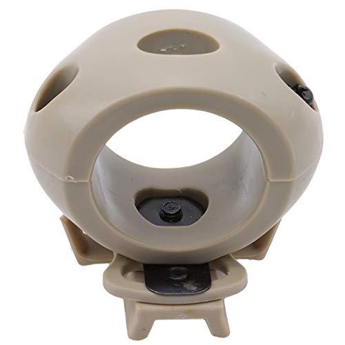 Bigsweety Helm Taschenlampe Halter Halterung Taktische Airsoft Schnellspanner Taschenlampe Clamp Tragbare Kunststoff Taschenlampe Halterung (Braun) -