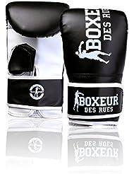 Boxeur Des Rues Fight Activewear Guanti da Sacco per L'allenamento, Nero, S