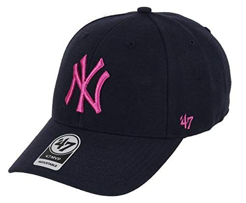 Imagen de  unisex de los new york yankees, marca '47 azul navy/pink talla única