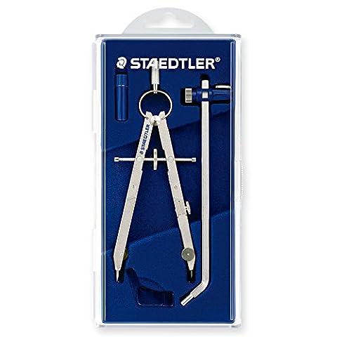 Staedtler 551 02 Compas de précision Mars Comfort avec rallonge dans boîtier avec couvercle à charnière (Argenté) (Import