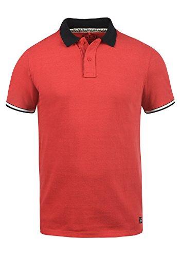 Blend Prato Herren Poloshirt Polohemd T-Shirt Shirt Mit Polokragen Aus 100% Baumwolle, Größe:XL, Farbe:Pomp Red (73832) -