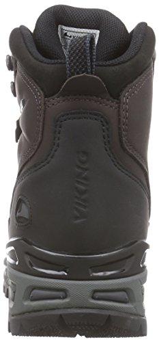 Viking Gaupe Leather GTX, Chaussures de Randonnée Mixte Adulte Marron - Braun (Dark Brown/Black 1802)
