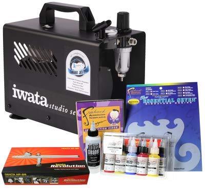 Iwata Art & Graphics Airbrush Kit mit Smart Jet Pro Kompressor -