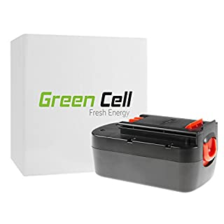 Green Cell HPB18-OPE Power Tool Replacement Battery Pack for Black&Decker (Ni-MH Cells 3 Ah 18V)