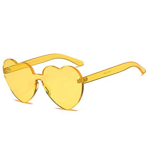 VRTUR 1 Stück Damen Metall Sonnenbrillen Nettes Herz-Form-Design Objektiv Outdoor Brillen Form Sonnenbrillen Unisex(One size,D)
