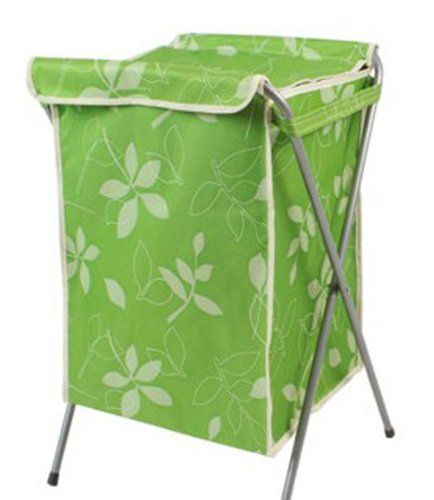 Ménage Essentials Panier à linge pliable avec une coque (66*40*35 cm) Vert