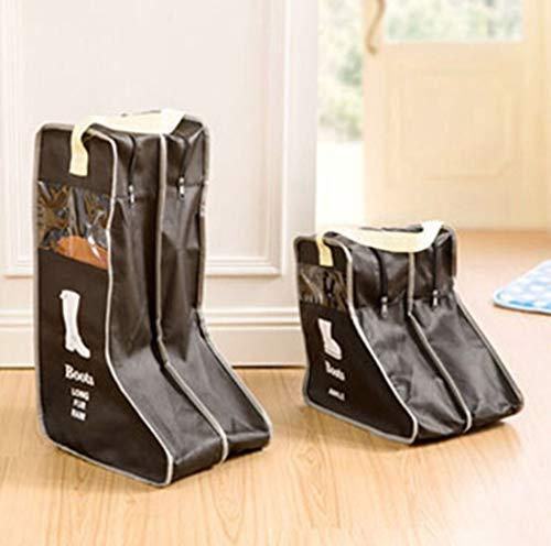 Boomder Schuhbeutel Reiseveranstalter, Stiefel und Schuhaufbewahrung Cube-Portable Waterproof Shoe Bags Veranstalter für Reisen, Training, Tanzen, 2er Pack (groß, klein) Halter Dispenser (Farbe : T2) -