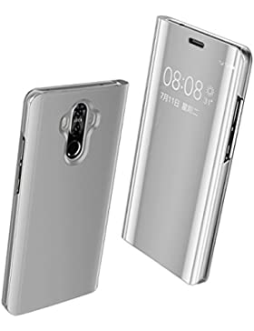 Funda Huawei P10 Espejo PC Carcasa Flip 360° Protectora Ultra Delgado Choque Absorción Anti-Arañazos Huawei P10...