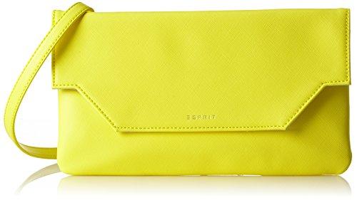 Esprit Accessoires Damen 048ea1o045 Baguette, Gelb (Bright Yellow), 2x14x28 cm (Leder Baguette Handtasche)