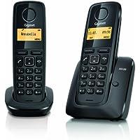 Gigaset AS 120 Duo Telefono Cordless, Nero