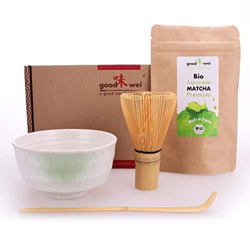 Goodwei Matcha Tee Starter-Set mit japanischem Bio Matcha (Shiro)