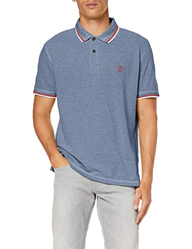 TOM TAILOR Herren 1008653 Poloshirt, Blau (Simply Blue White Pi 16130), (Herstellergröße: XX-Large) -