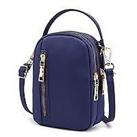 حقيبة كروس صغيرة خفيفة الوزن ومتعددة الجيوب محفظة للهاتف الخلوي للنساء