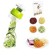 Opard Spiralschneider Hand für Gemüsespaghetti, 4 in1 Gemüseschneider,Gemüse Spiralschneider Gemüsehobel für...
